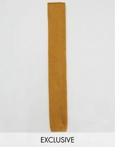 Вязаный галстук Noose & Monkey - Желтый
