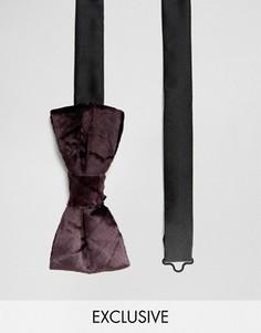 Бархатный галстук-бабочка Noose & Monkey - Фиолетовый