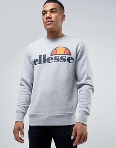 Свитшот с классическим логотипом Ellesse - Серый
