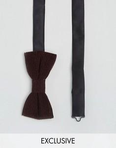 Вельветовый галстук-бабочка Heart & Dagger - Красный