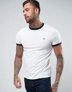 Белая футболка Fred Perry Ringer - Белый