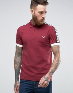 Темно-бордовая футболка-поло Fred Perry Sports Authentic - Красный