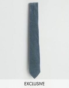 Бархатный галстук Noose & Monkey - Синий