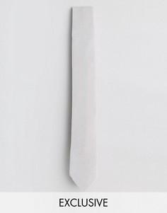 Бархатный галстук Noose & Monkey - Белый