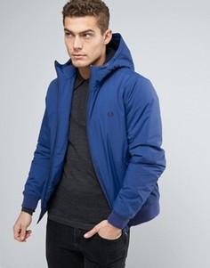 Синяя утепленная куртка с капюшоном Fred Perry Brentham - Синий