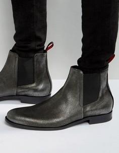 Ботинки челси цвета металлик HUGO by Hugo Boss Sigma - Серебряный