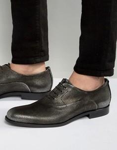 Оксфордские туфли металлик HUGO by Hugo Boss Sigma - Серебряный