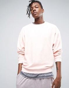 Oversize-свитшот из махровой ткани ASOS - Розовый