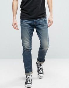Суженные выбеленные джинсы G-Star 3301 - Синий