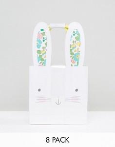 Набор подарочных пакетов с дизайном в виде зайчика Meri Meri x Liberty - 8 шт. - Мульти