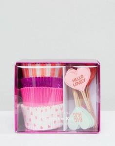 Набор для декора капкейков на День святого Валентина Meri Meri - Мульти