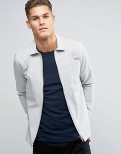 Куртка слим на молнии премиум-класса Jack & Jones - Серый