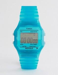Голубые цифровые часы Timex - Синий