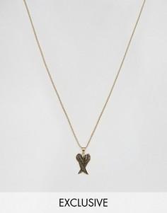 Золотистое ожерелье с подвеской Seven London эксклюзивно для ASOS - Золотой
