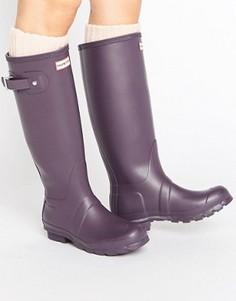 Высокие резиновые сапоги Hunter Original - Фиолетовый