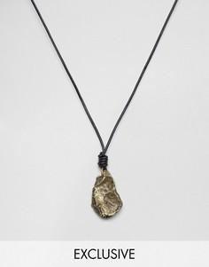 Ожерелье из черного шнурка и камня Seven London эксклюзивно для ASOS - Черный