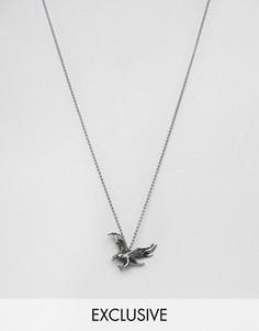 Серебристое ожерелье с подвеской в виде орла Seven London эксклюзивно для ASOS - Серебряный