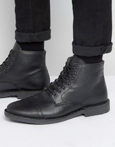 Утепленные кожаные ботинки Jack & Jones Gobi - Черный
