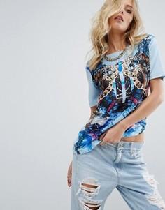 Футболка с принтом Versace Jeans - Мульти