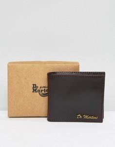 Кожаный бумажник Dr Martens - Коричневый
