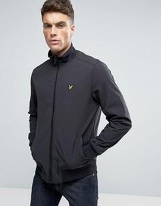 Черная мягкая куртка-пилот с логотипом-орлом Lyle & Scott - Черный