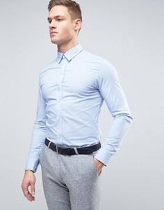 Строгая рубашка скинни Selected Homme - Синий