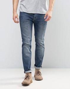 Синие стретчевые джинсы скинни Lee Jeans Rider - Синий