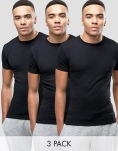 3 черные футболки для дома Original Penguin - Черный