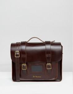Кожаный портфель 15 дюймов Dr Martens - Коричневый