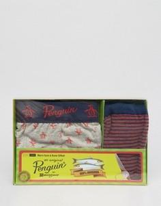 Подарочный набор из боксеров-брифов и носков Original Penguin - Мульти