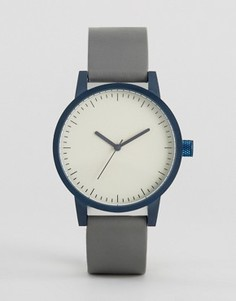 Часы с кожаным ремешком SWCO Kent 38 мм - Серый Simple Watch Company