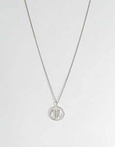 Серебряное ожерелье со знаком зодиака Скорпион Fashionology - Серебряный