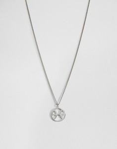 Серебряное ожерелье со знаком зодиака Рыбы Fashionology - Серебряный