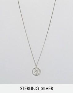 Ожерелье с зодиакальной подвеской Козерог Fashionology - Серебряный