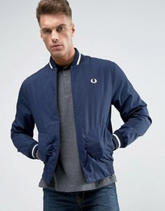 Fred Perry REISSUES Bomber Jacket Made In England in Navy/White - Темно-синий