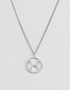 Серебряное ожерелье со знаком зодиака Телец Fashionology - Серебряный