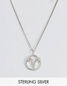 Серебряное ожерелье со знаком зодиака Овен Fashionology - Серебряный
