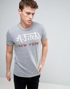 Узкая футболка с аппликацией Abercrombie & Fitch 1892 - Серый
