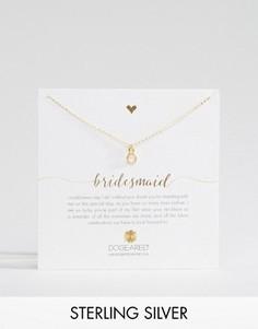 Позолоченное ожерелье Dogeared Bridesmaid - Золотой