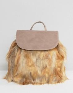 Рюкзак с искусственным мехом Glamorous - Stone