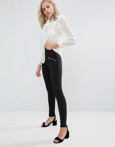 Прямые брюки с молниями QED London - Черный