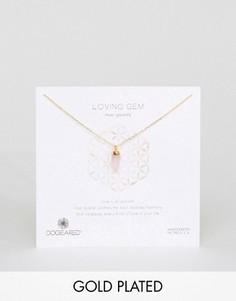 Позолоченное ожерелье-чокер Dogeared Loving Gem - Золотой