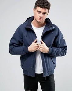 Водоотталкивающая куртка с капюшоном RVCA Humble - Темно-синий