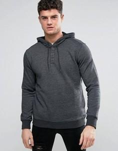 Серый саржевый худи RVCA - Серый