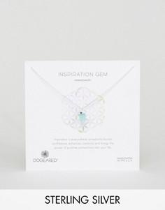 Серебряное ожерелье с амазонитом Dogeared Inspiration Gem - Серебряный