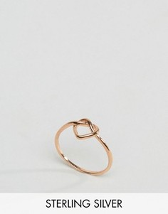 Серебряное кольцо цвета розового золота ASOS - Медный