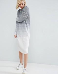 Платье миди с эффектом деграде ASOS WHITE - Мульти