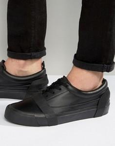 Черные кеды с отделкой и шнуровкой ASOS - Черный
