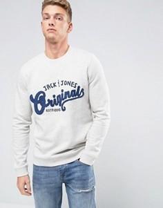 Свитшот с вышивкой Jack & Jones Originals - Белый