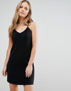 Плиссированное платье на тонких бретельках JDY - Черный